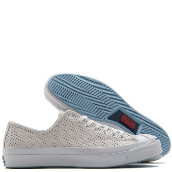 849c56c02f81 CONVERSE JACK PURCELL SIGNATURE PERFORATED GOAT LEATHER OX - WHITE ...