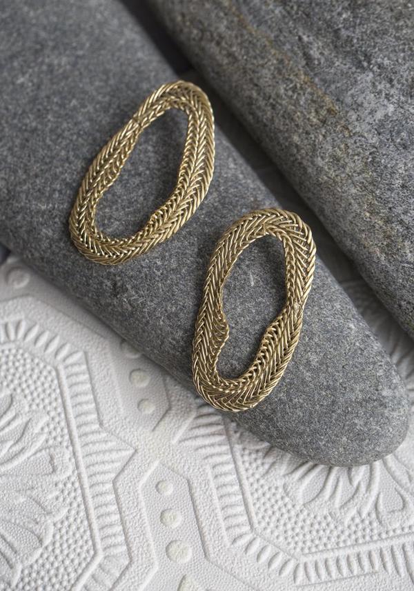 Stvdio Brooklyn No. 03 Earrings - brass
