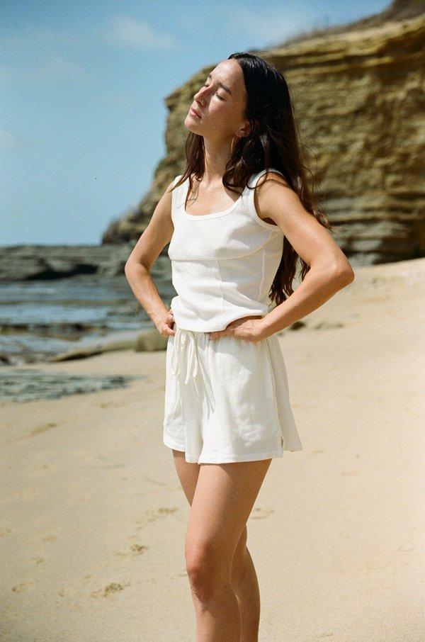 St. Agni Odile Lounge Shorts - Ivory
