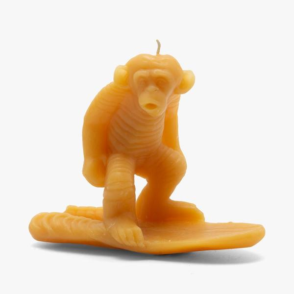 General Admission Surf Chimp Candle - Yellow