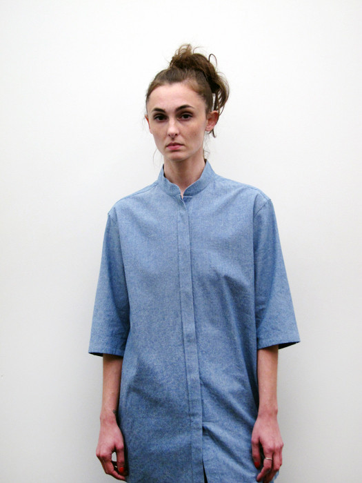 Assembly NY No Collar Shirt Dress