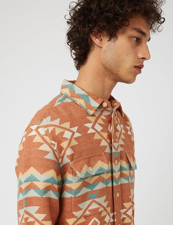Pendleton Beach Shack Plaid Shirt - Terracotta/Blue/Orange
