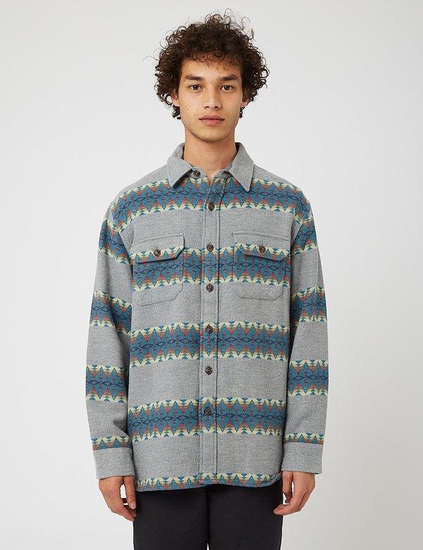 Pendleton Driftwood Plaid Shirt - Grey