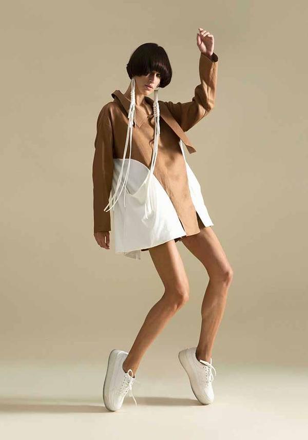 Linen and Cotton Asymmetric Swing Top