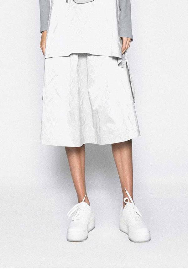 Metallic Structured Skirt
