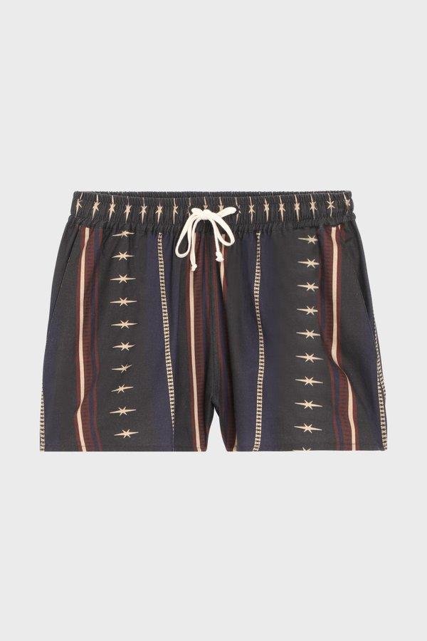 PHIPPS Rodeo Stripe Drawstring Short Boxer - Black