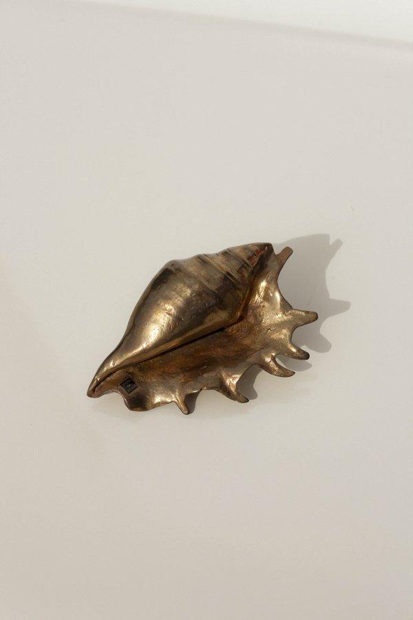 [Pre-loved] Solid Brass Seashell