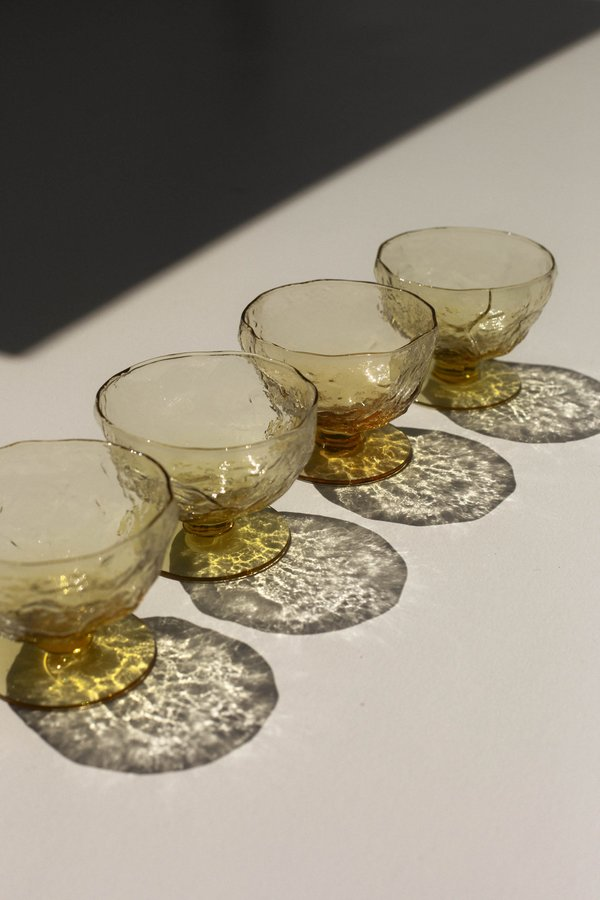 Pre-loved Leigh Collective Crinkle Sundae Cups - yellow