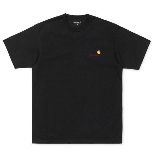 CARHARTT WIP S/S American Script T-Shirt - Black