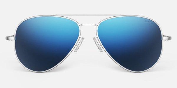 Randolph Engineering Concorde Polarised sunglasses - matt chrome/cobalt
