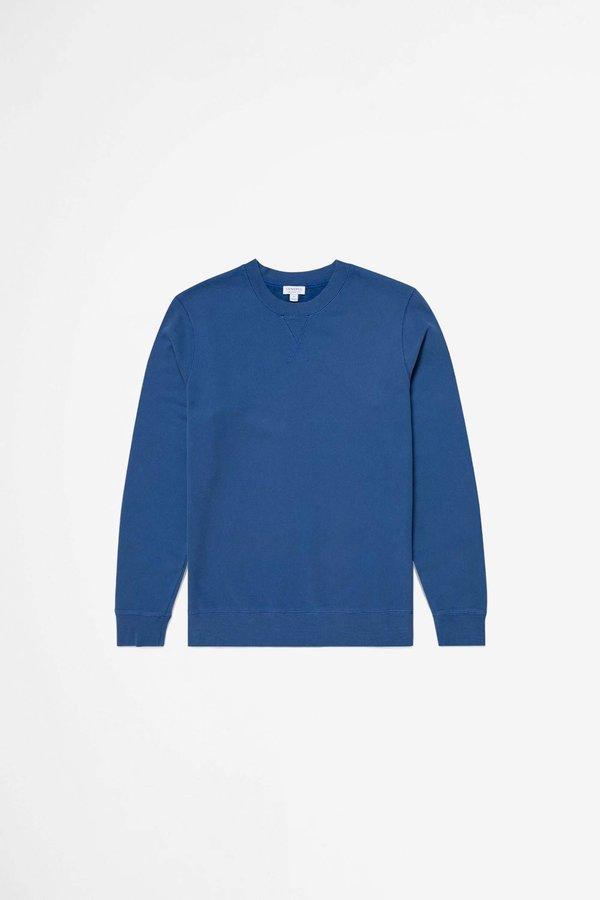 Sunspel Cotton Loopback Sweatshirt - Ink