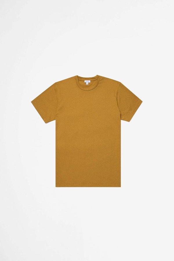 Sunspel Organic Cotton Riviera T-shirt - Ochre Melange
