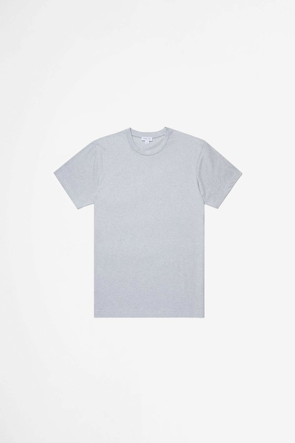 Sunspel Organic Cotton Riviera T-shirt - Powder Blue Melange