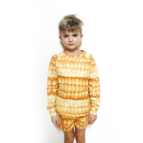 kids Romey Loves Lulu Corn Shorts - yellow