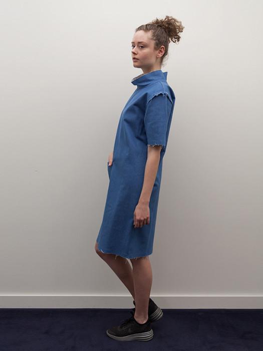 Rowena Sartin Raw Seam Mock-T Day Dress