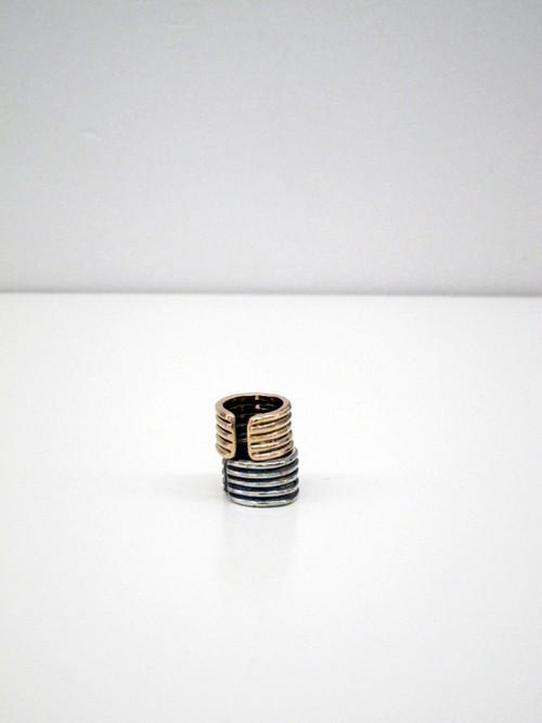 Kat Seale Ribbed Ring, Bronze