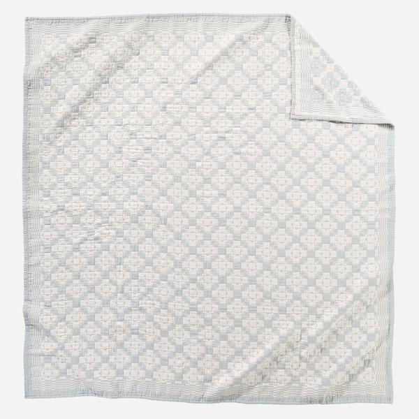 Pendleton Chief Joseph Cotton Matelasse Coverlet Slate - Blue/Cream