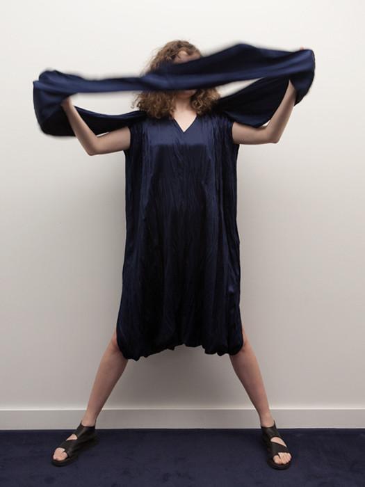 Rowena Sartin Scarf Rectangle Dress with Neck Tie