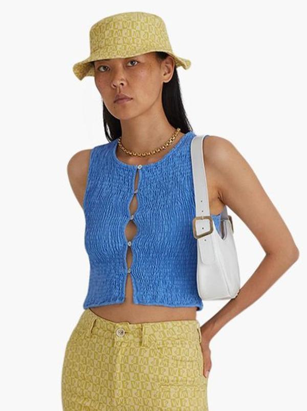 Paloma Wool Livi Crop Top - Sky Blue