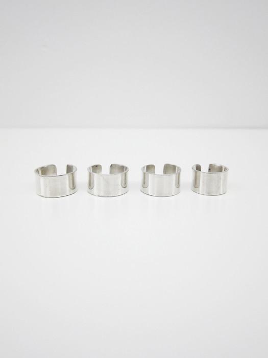 Kat Seale Set of 4 Rings, Sterling Silver