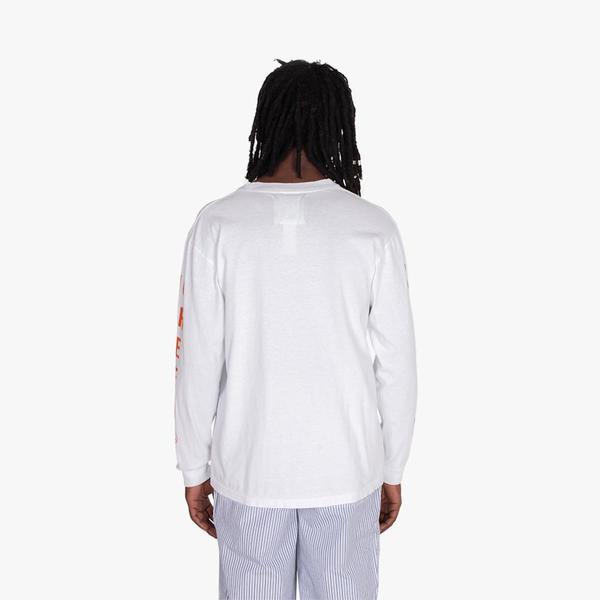 Mister Green Swiss Wordmark Long Sleeve T-shirt / White