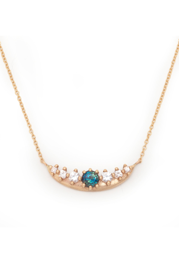 Valley Rose Boreal Crescent Necklace