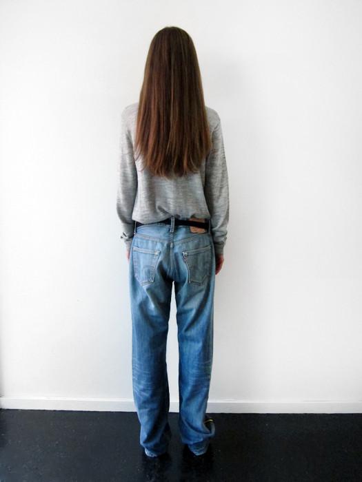 Unisex BLESS Sidestripes Jeans, 35