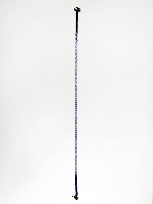 17 by Stephanie Schneider Silver and Silk Necklace, Blue