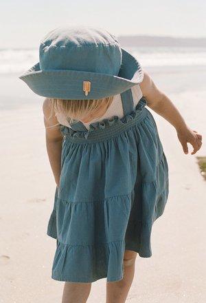 Kids Noble Organic Fia Dress - Blue Moon