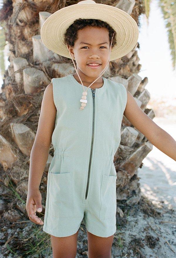 Kids Noble Organic Tank Suit - Sage