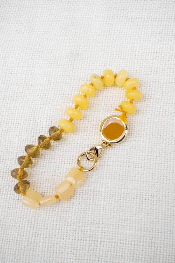 A. Carnevale Beaded Bracelet - Yellow/Gold