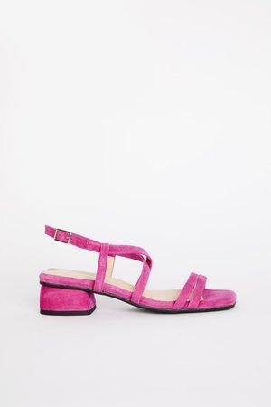 """INTENTIONALLY __________."" HILLTOP sandals - Fuchsia"