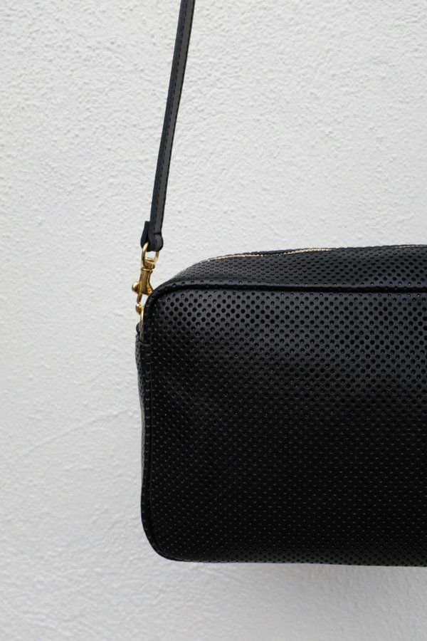 Clare V. Marisol with Front Pocket - Black Perf