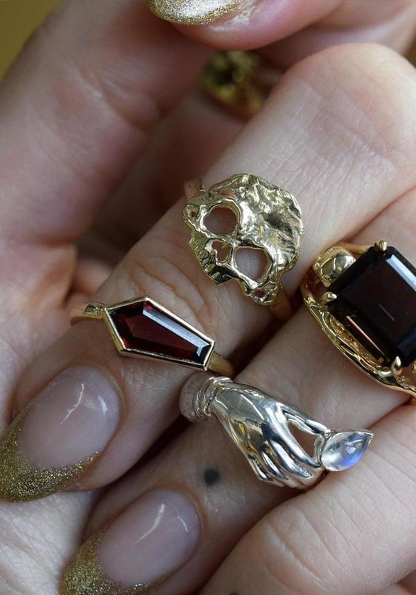 Margaret Cross Petite Dust to Dust Ring - Gold