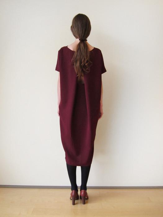 KAAREM Triangle Midi Dolman Open Back Dress