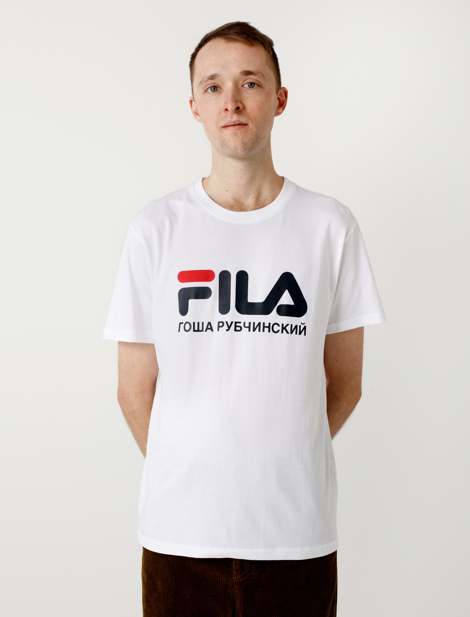 Gosha Rubchinskiy Fila T Shirt White