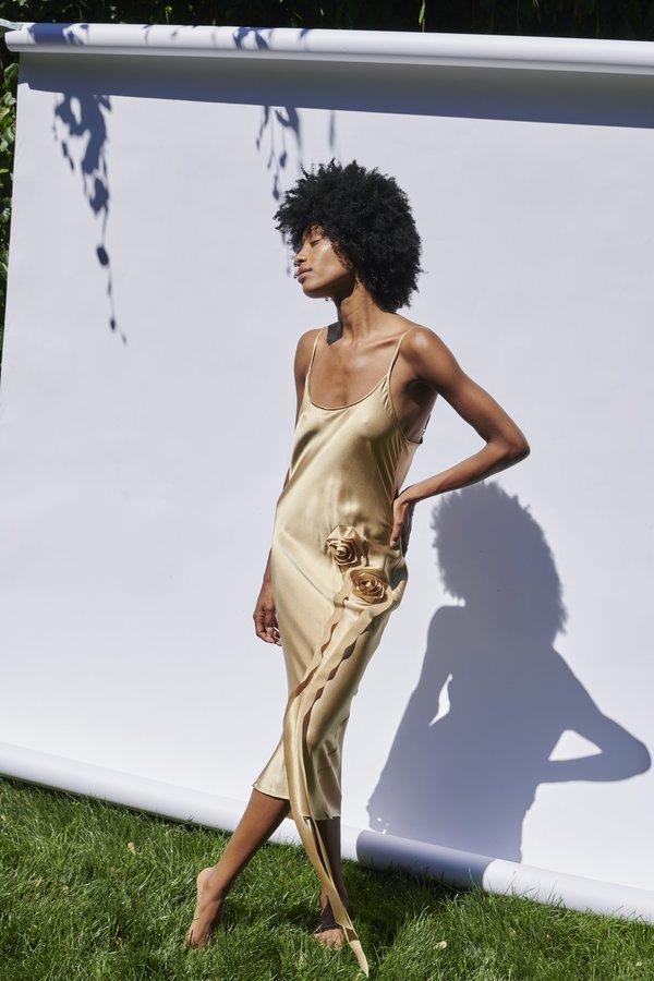 KES Minimal Rosette Slip Dress - Desert