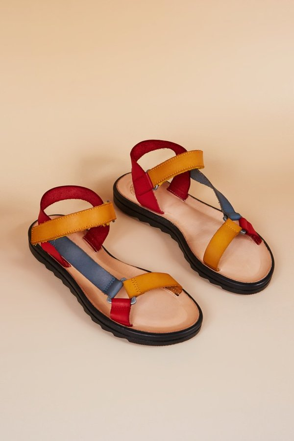 TIOOL TRANSFER Sandals - Red Combo