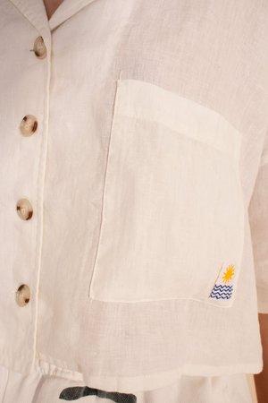 L.F.Markey Maxim Linen Shirt - white