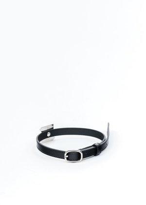 we11done Patent Mini Logo Buckle Choker - Silver
