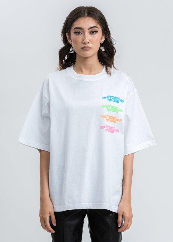 we11done Multi Color Logo Tshirt - White