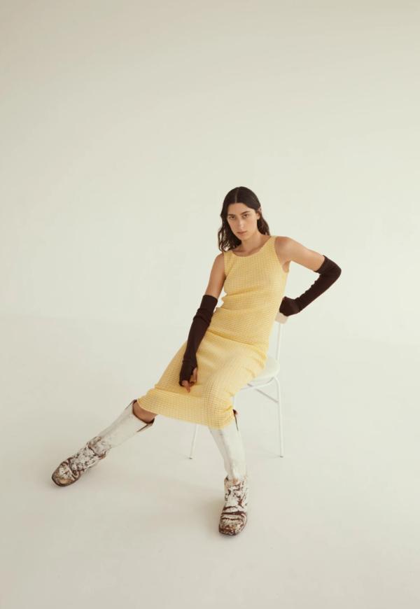 permanent vacation Ritual Tank Dress - Yellow
