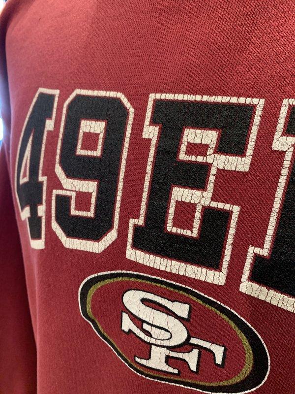 Vintage 49ers Crewneck Sweatshirt - Red
