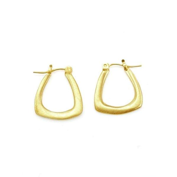 Philippa Roberts Hope Small Triangle Hoops Earrings - Gold Fill