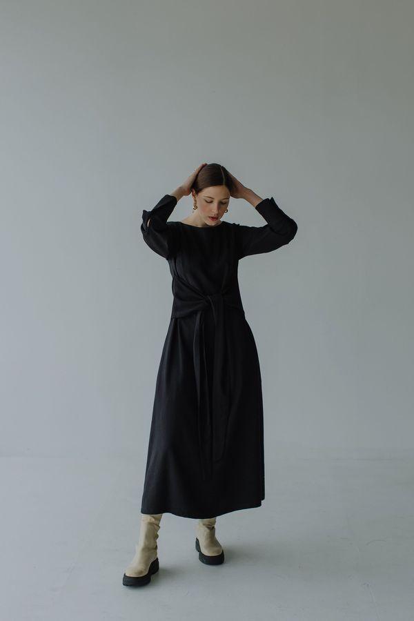 Mina Stay Dress - Black