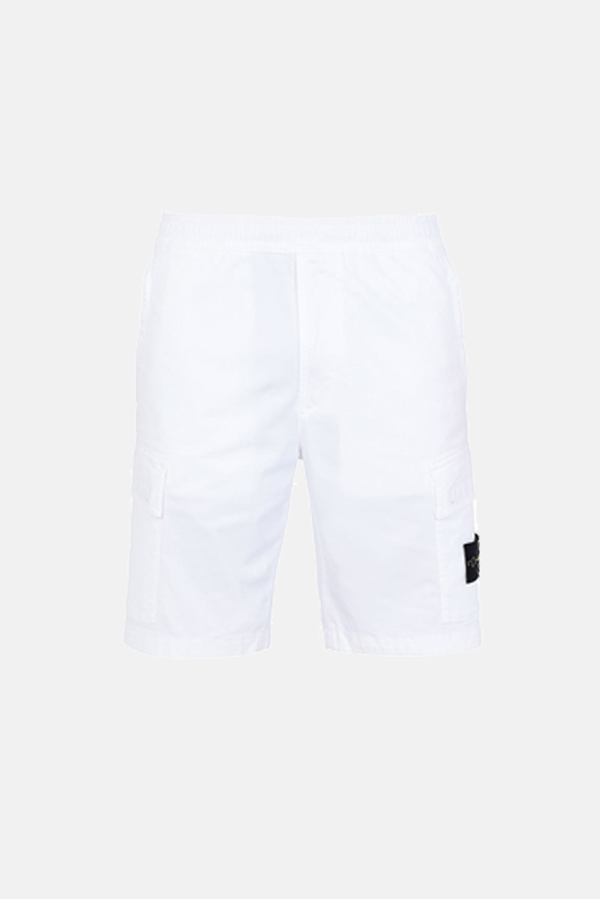 Stone Island Cargo Bermuda Shorts - White