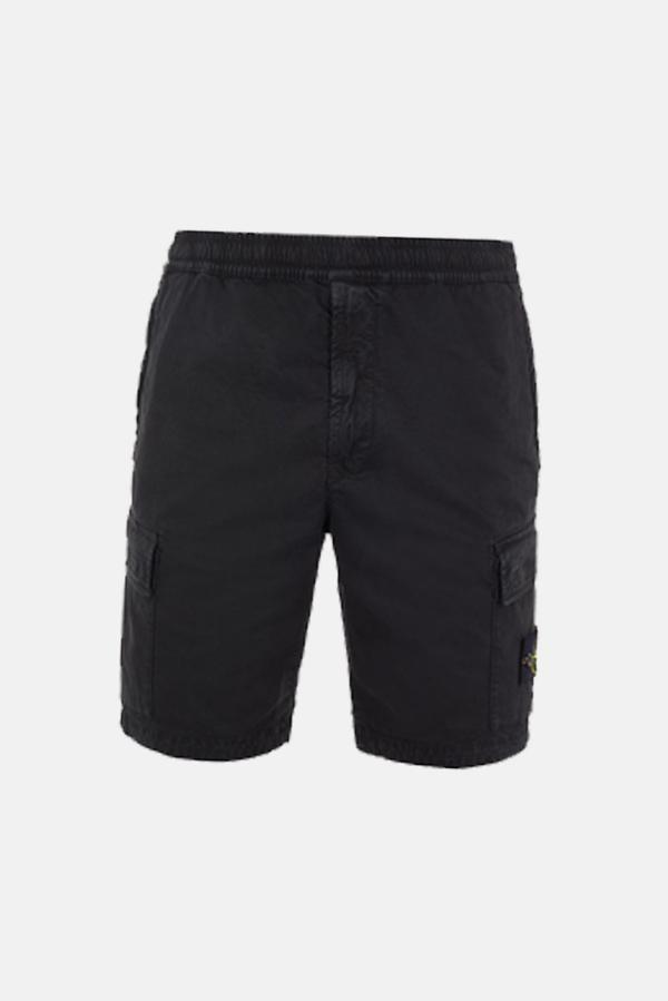 Stone Island Cargo Bermuda Shorts - Black