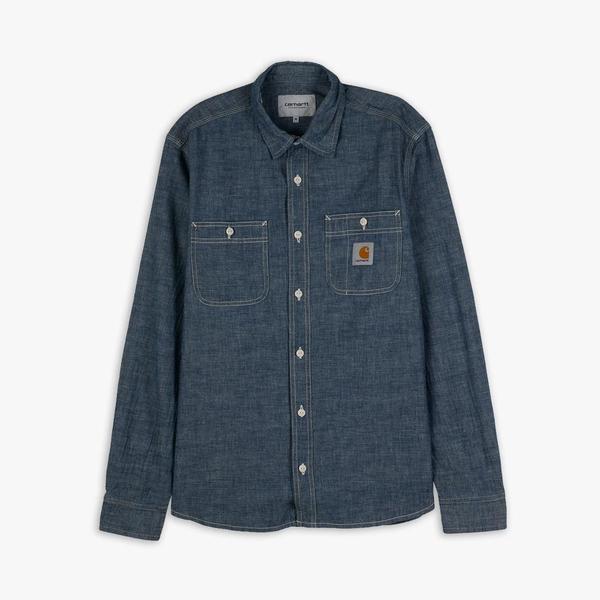 Carhartt WIP Clink Long Sleeve Shirt top - Blue Rinsed