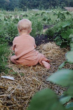 kids Petits Vilains Ami Woven Tee - Earth