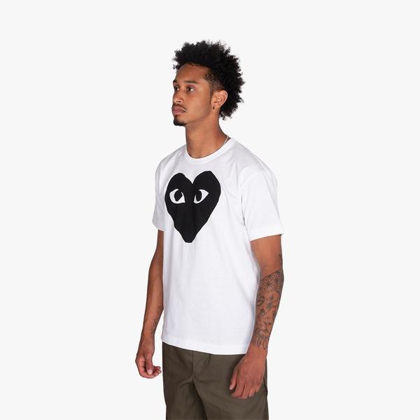 Comme des Garçons Play Black Heart Tshirt - White
